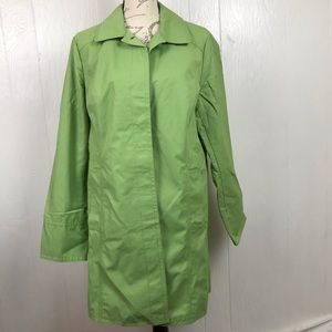 Eddie Bauer Christine Green Trench Coat L